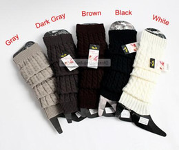 Wholesale Women Winter Knit Crochet Fashion Leg Warmers Legging Colors