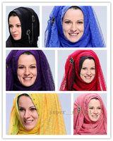 Wholesale Silk Headscarf Scarf Muslim Ladies Scarves Wraps Hijabs Fashion Accessories Fedex