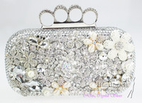 Wholesale handmade silver Rhinestone evening bags Evening Purse for party