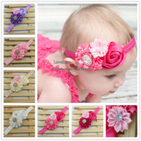 Wholesale Fashion Princess Headbands Hair Things Childrens Accessories Girls Cute Rose Flower Headbands Baby Hair Accessories Child Headwear Hairbands