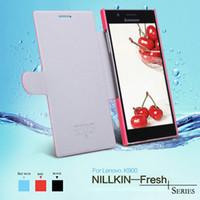 Cheap Lephone NILLKIN Lenovo Serise PU Leather Case for Lenovo K900 Flip Style Sleep Function Drop Ship !