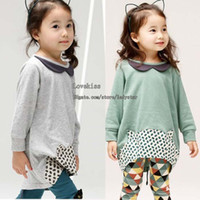Wholesale Children Set Kids Suit Outfits Girl Clothes Fashion Two Piece Cute Cartoon Long Sleeve Tops Girls Leggings Tights Child Suit Kids Clothing