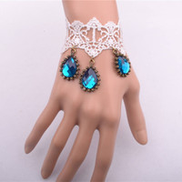 custom made jewelry - Women s lace drop bracelet sapphire stone charms to make jewelry gifts for graduation woman custom jewelry via china post air mail