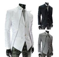 Wholesale Hot Sale New Brand British Style Slim Men Suits Mens Stylish Design Blazer Casual Business Fashion Jacket Black Grey White