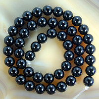 Wholesale MM mm mm Onyx Black Gemstone Round Beads Strands