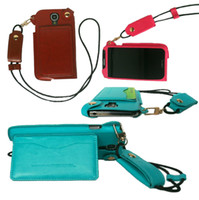 For Apple iPhone Leather White Hot wholesale -- Samsung GALAXY S4 I9500 GALAXY Note 3 N9006 Leather case fashion quality Pu lanyard 8 color free shipping