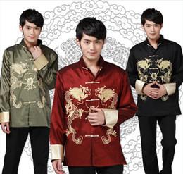 Shanghai Story Long Sleeve Vintage Jacket Chinese Traditional clothing Tang Shirt mandarin collar shirt Dragon Kungfu Jacket JY039