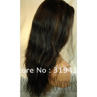 Wholesale New Fashion b highlights Natural Wave Indian Remi Human Hair Full Lace Wig Baby Hair French Lace premium Quality NEW