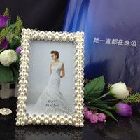 Wholesale pearl diamond zinc alloy photo frame picture frame home decoration gift craft