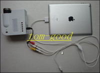 Wholesale By HK Post Freeshipping UC28 with HDMI Mini Micro AV LED Digital Video Game Projectors Multimedia player Inputs AV VGA USB SD