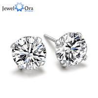 Wholesale 925 Sterling Silver Stud Earrings For Women Fashion Jewelry EA100129 mm AAA Cubic Zirconia Stud Earring