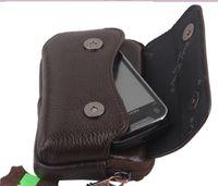 Cheap Genuine Leather belt bags for men Best Men  mobile phone leather bag