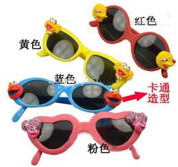 2017 woman uv sunglasses Wholesale - Hot sesame street multi-color children's sunglasses Children's glasses 100%UV 24pcs lot woman uv sunglasses for sale