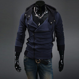 Wholesale new chinos autumn and winter Fashion Classic Men s Hoodies Inclined zipper Cotton s Outerwear