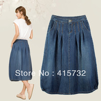 Denim Skirts For Plus Size UK | Free UK Delivery on Denim Skirts ...