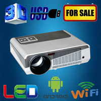 Wholesale lumen x800pixels wifi porable HD LED video game multimedia projector perfect for home built in android