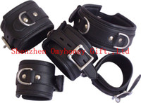 Wholesale Neck Wrist amp Ankle Restraints Cuffs GIMP Mask Bondage Fetish Gay Ringlock Sex Toys Sex products Drop shipping
