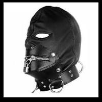 Wholesale PVC Gimp Fetish Bondage Hood Sex Hoods Sex Headgear Mask SM010