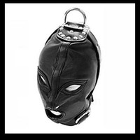 Wholesale Whholesale Quality PVC Gimp Fetish Bondage Hood Sex Hood Headgear Mask Adult Game Product