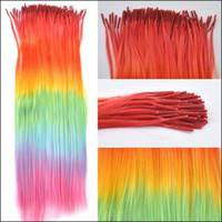 Wholesale Hot Sale Iridescence pack Synthetic Grizzly Feather Hair Extensions