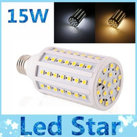 Wholesale 15W E27 E14 B22 LED corn bulb lights SMD Led lights high bright lumens warm cool white energy saving led lamp V V