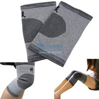 Wholesale Pairs Easy To Wear Knee Pad Knee Sleeves Support Brace Wrap Gray