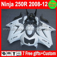 7gifts+ 100%New For all white Kawasaki Ninja ZX250 08- 12 ZX 2...
