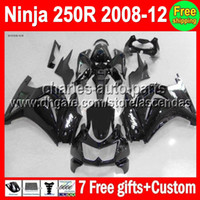 all black 7gifts+ 100%New For Kawasaki Ninja ZX250 08- 12 ZX 2...