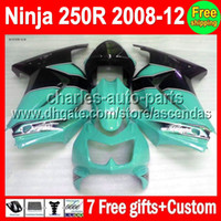 Wholesale 7gifts New cyan black Fairing For Kawasaki Ninja R ZX250 cyan blk ZX ZX250R