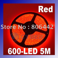 Wholesale 5m Red SMD Waterproof Flexible LED Strip