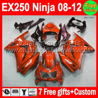 Wholesale orange gifts Custom For Kawasaki Kit Ninja EX250R all orange EX EX250 Fairings