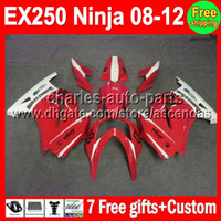 Wholesale 7gifts Custom Fairings For Kawasaki Ninja red white EX250R EX250 EX Kit new red