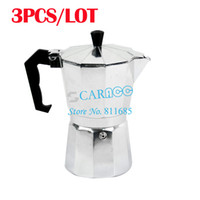 Wholesale New Aluminum Silver Stove Top CUPS Continental Italian Coffee Maker Machine Percolator TK0863