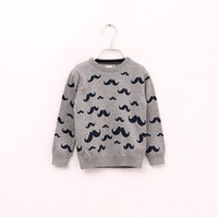 Wholesale New Arrival Children Sweater Hot Sale Baby Moustache Sweater Kids Knitwear Printing Sweater