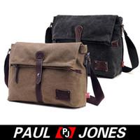 Wholesale PJ Korean Men s Vintage Causal Canvas Shoulder Bag Messenger Bag GZ624