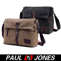 Wholesale PJ Korean Men s Vintage Causal Canvas Shoulder Bag Messenger Bag GZ624