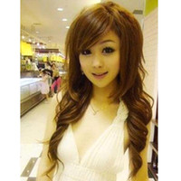 Wholesale socool2010 New Sexy Fashion Women s Long Curly Wavy Synthetic Hair Wigs NA08