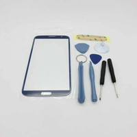 For Samsung   New Arrival!Wholesale Touch Screen Outer Glass front lens for Samsung Galaxy Mega i9200 9200 Opening Tools and 3M Adhesive with logo goodbiz