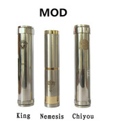 Electronic Cigarette Set Series Mod Mechanical Mod Locking Bottom Button Adjustable King Nemesis Chiyou With Retail Package Electronic Cigarette E Cigarette Mod