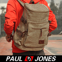 Wholesale 1 PJ Korean Men s Canvas Shoulders Bag Backpack Rucksack Travel Bag GZ627