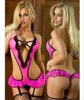 Cheap New Women's underwear Europe and America Sexy Lingerie One-Pieces sexy underwear Rose Red Sleepwear TS134