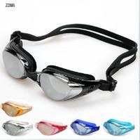 Racing Goggles diving equipment - Professional Swimming Goggles Waterproof UV Swimming Glasses Diving Equipment Six Colors Optional ZDM