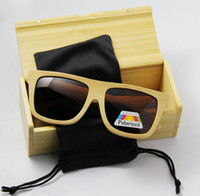 Framed bamboo cats - New arrived Bamboo men sunglasses Wood sunglasses with polarized lens brand design eyewear hot seller CE UV400 protection