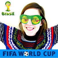Wholesale 14 cm HOT Sale World Cup Cheering Paper Glasses Souvenir Gift Fans Cheering Supplies FT021