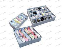 Wholesale LLFA4178 pieces a set foldable box Bamboo Charcoal fibre Storage Box for bra underwear necktie socks