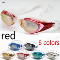 Wholesale Professional Diving Glasses Red Waterproof UV Swimming Glasses Diving Equipment ZDM4