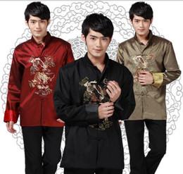 Shanghai Story Long Sleeve Chinese Traditional Chinese clothing Tang Shirt mandarin collar Gold diamond embroider Kungfu Jacket 3 color