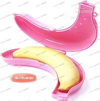 Wholesale LLFA4180 Banana Guard Container Storage Lunch Fruit Protector Plastic Box Banana Case