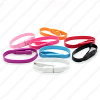 Wholesale A2 Wristbands Style Micro Pin USB Data Transfer amp Charging Noodle Cable for Samsung Galaxy S3 S4 i9500 Galaxy Tab