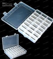 Wholesale LLFA4181 Grid Jewelry box storage box Plastic and transparent jewelry storage box